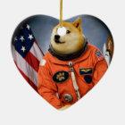 astronaut dog  - doge - shibe - doge memes ceramic ornament