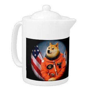 astronaut dog  - doge - shibe - doge memes teapot