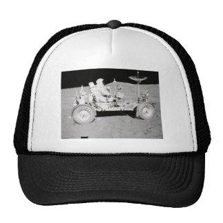 Astronaut driving Lunar Lander on the Moon Mesh Hats