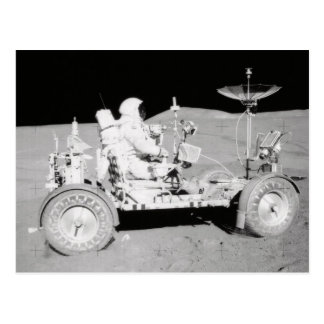 Astronaut driving Lunar Lander on the Moon Postcard