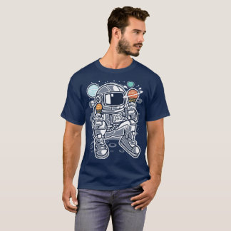 Astronaut eating planetary ice cream in space T-Shirt