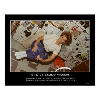 Astronaut Eileen M. Collins-floats Poster