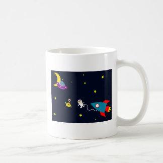 Astronaut Encounters Aliens in Space Coffee Mug