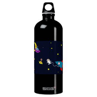 Astronaut Encounters Aliens in Space Water Bottle