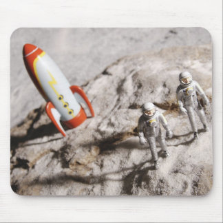 Astronaut Figurines Mouse Pad