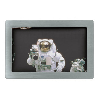 Astronaut Filming Rectangular Belt Buckle