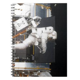 Astronaut Floating Spiral Notebook