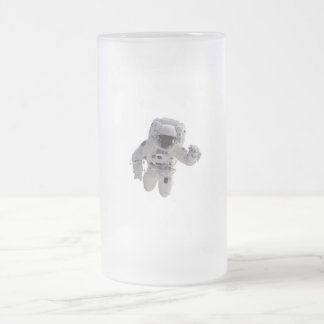 Astronaut Frosted Glass Beer Mug