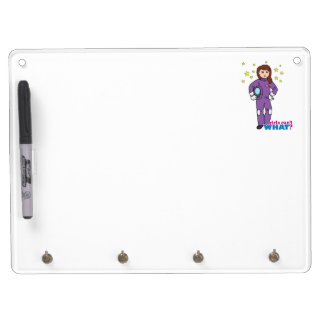 Astronaut-Girl 1 Dry Erase Board With Keychain Holder