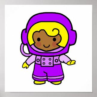 Astronaut Girl 1 Poster