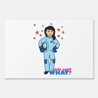 Astronaut-Girl 2 Lawn Signs
