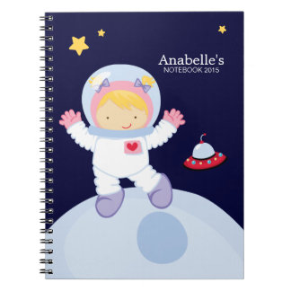 Astronaut Girl Kid's Personalized Notebook