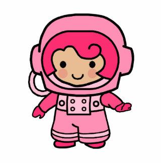 Astronaut Girl Standing Photo Sculpture