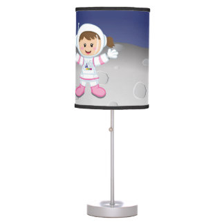 Astronaut girl table lamp