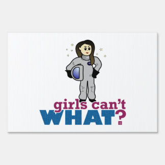 Astronaut Girl Yard Sign