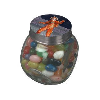 Astronaut Glass Candy Jars