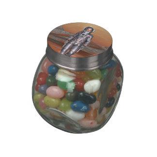Astronaut Glass Jar