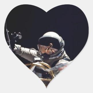 Astronaut Heart Sticker