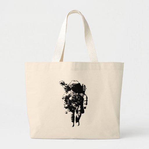 Astronaut in Space Jumbo Tote Bag