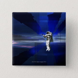 Astronaut in Space Pinback Button