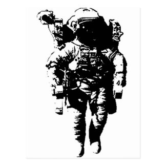 Astronaut in Space Postcard