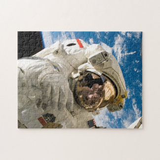 Astronaut in Space Repairing Space Station Photo Jigsaw Puzzle