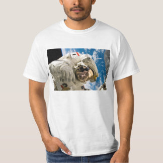 Astronaut in Space White Value Tshirt