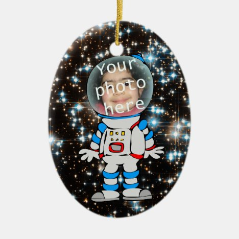 Astronaut in Training - Astro Child Template Ceramic Ornament
