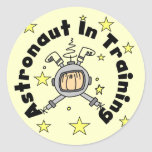 Astronaut in Training Tshirts and Gifts Round Stickers