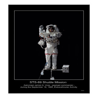 Astronaut James S Voss Outer Space Walk Poster