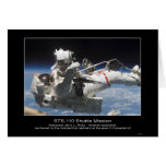 Astronaut Jerry L. Ross anchored to the mobile foo Greeting Cards