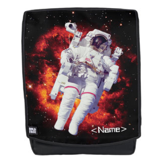 Astronaut Jetpack Spacewalk with Nebula - Add Name Backpack
