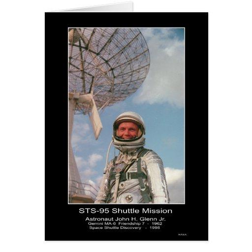 Astronaut John H. Glenn Jr. – Gemini and Space Shu Greeting Card