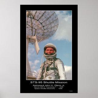 Astronaut John H. Glenn Jr. Poster