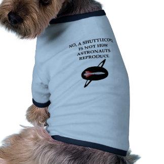 astronaut joke doggie t shirt
