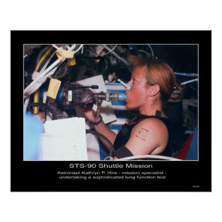 Astronaut Kathryn P. Hire on STS-90 Poster