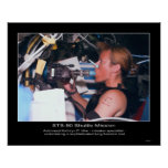 Astronaut Kathryn P. Hire on STS-90 Posters
