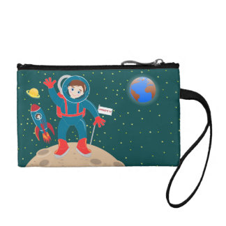 Astronaut kid birthday party coin wallet