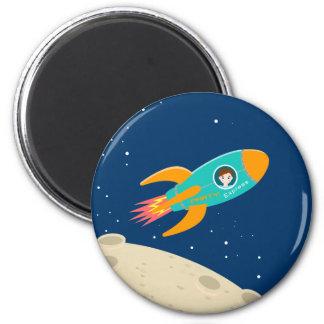 Astronaut kid birthday party 2 inch round magnet