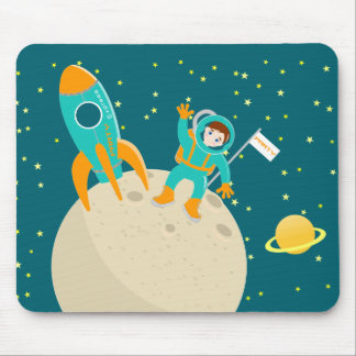 Astronaut kid birthday party mouse pad