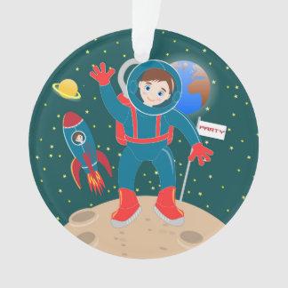 Astronaut kid birthday party ornament