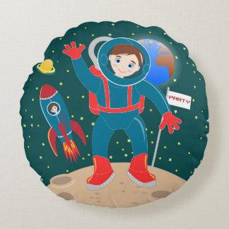 Astronaut kid birthday party round pillow