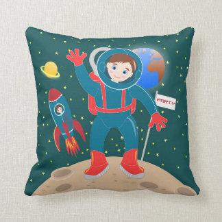 Astronaut kid birthday party throw pillow