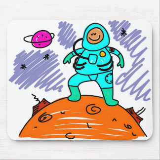 Astronaut Kid Mouse Pad