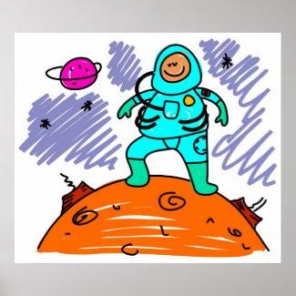 Astronaut Kid print