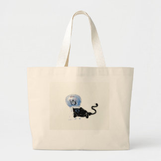 astronaut kitteh canvas bags