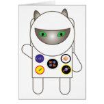 Astronaut Kitty Birthday Card
