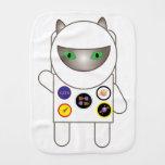Astronaut Kitty Cat Baby Burp Cloth