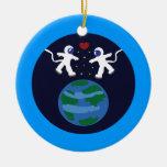 Astronaut Love Christmas Ornament
