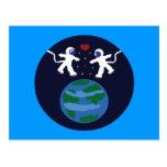 Astronaut Love Postcard
